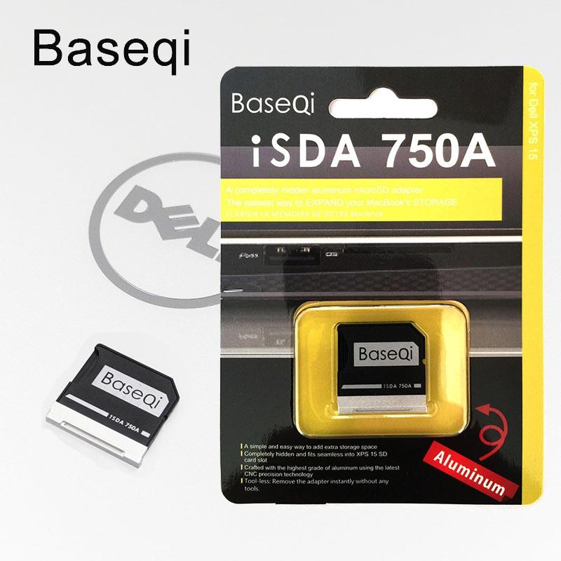 "Nuevo BaseQi tarjeta microSD adaptador 750A Ninja sigiloso de Metal unidad adaptador para Dell XPS 15 ""9550 Micro SD tarjeta lector de adaptador"