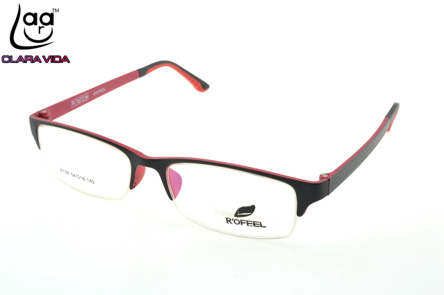 5c80469b1f46 ONLY 7G Half-rim TR Ultra Light Memory Nerd Glasses Frame Custom Made  Optical Prescription