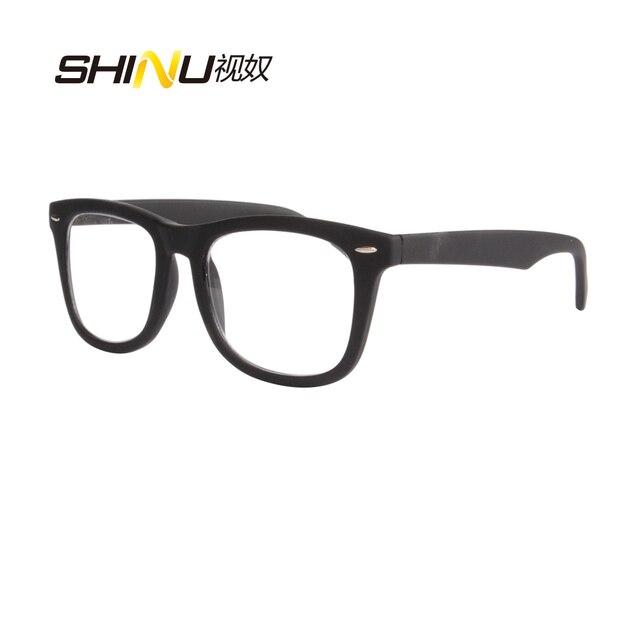 c64f3e6b4d Caucho negro Multifocal Progresiva gafas de lectura de lentes de lectura de  doble uso gafas para
