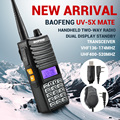 Baofeng UV5Xmate Ручной двусторонней Ветчина Радио Dual Band Рация Двойной Дисплей + Handsfree Мини Двойной Передачи Mic