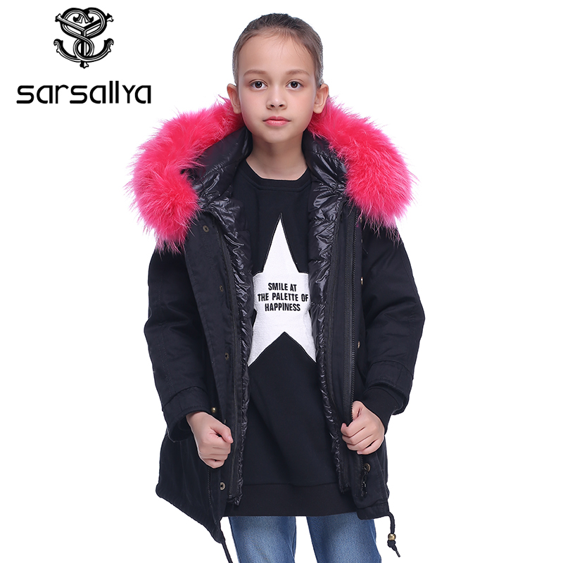 beb4a443a Online Shop SARSALLYA real fur hooded jacket for girl jackets for ...