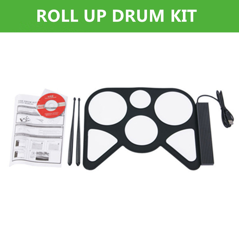 2014 new free shipping portable educational electronic roll up drum kit usb roll up drum kit in. Black Bedroom Furniture Sets. Home Design Ideas