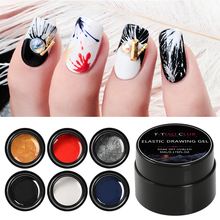 T-TIAO CLUB Elastic Drawing Nail Gel Polish Spider Painting Soak Off UV Gel Lacquer Nail Art Wire Varnish DIY Manicure Tools
