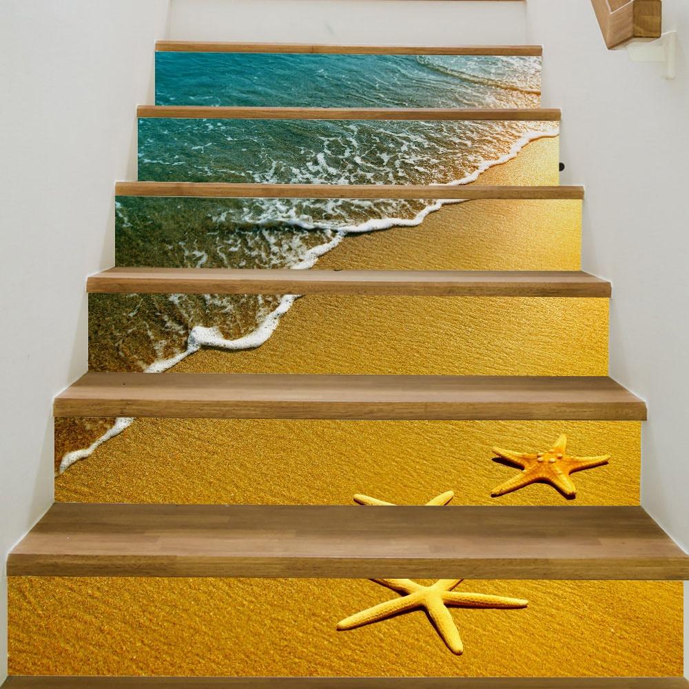 Hot Sale New Design DIY Steps Sticker Removable Stair Sticker Home Decor  Ceramic Tiles Patterns Adesivo
