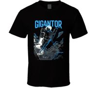 Gigantor Action Anime Japanese Robot Cartoon Tetsujin Black T Shirt New From Us