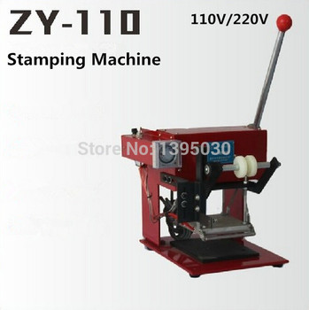 1pcs ZY-110 manual hot foil stamping machine manual stamper leather embossing machine Printing area 110*120MM