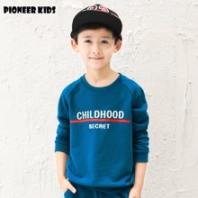 Pioneer Kids Retail Autumn/Spring sweatshirt kdis children hoodies Boy clothes cotton sports suit Letter hoodie kids clothing