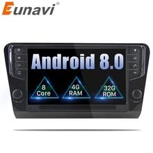 Eunavi 9 »1 Din Android 8.0 Autoradio GPS Navigation 4g RAM Pour Volkswagen Skoda Octavia 2014 2015 2016 2017 3g wifi bleutooth