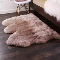 Brand New Sheep Skin Rug For Home Decoration 3P Natural Sheep Shape Warm Soft Sheep Fur