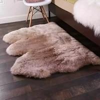 Aozun Australian 3P natural sheepskin fur rug 100*150 cm, sheep fur bedside carpet, big size fur ground mat, fur seat cushion