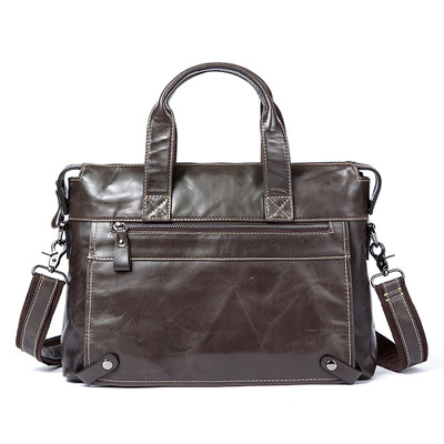 Men/'s Vintage Véritable Cuir De Vache épaule Messenger Bag mallette sac à main M