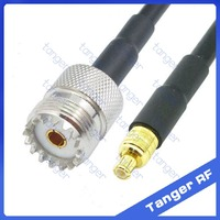 Hot Selling Tanger MCX male plug to SO239 UHF female jack connector straight RF RG58 Pigtail Jumper Coaxial Cable 20inch 50cm
