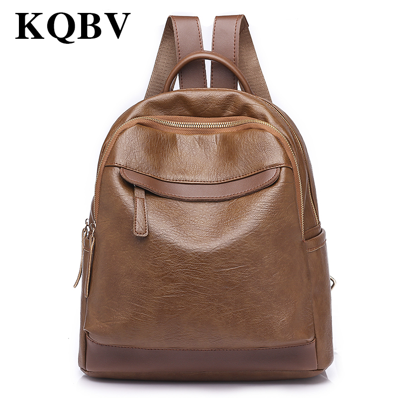 High Quality PU Leather Women Backpack Fashion Solid School Bags For Teenager Girls Large Capacity Casual Women Black Backpacks