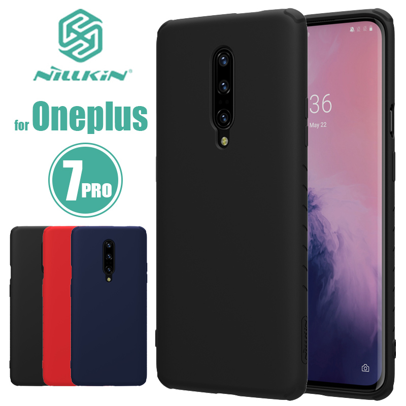 Oneplus 7 Pro Case Nillkin Rubberized TPU Case One Plus 7 Pro Silicone Back Cover Soft Phone Case for Oneplus 7 Pro Nilkin Case