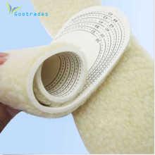 gootrades  1 pair Unisex Men Wemen Winter Warm Soft Wool Winter Shoe Insole Pad Size 36-46