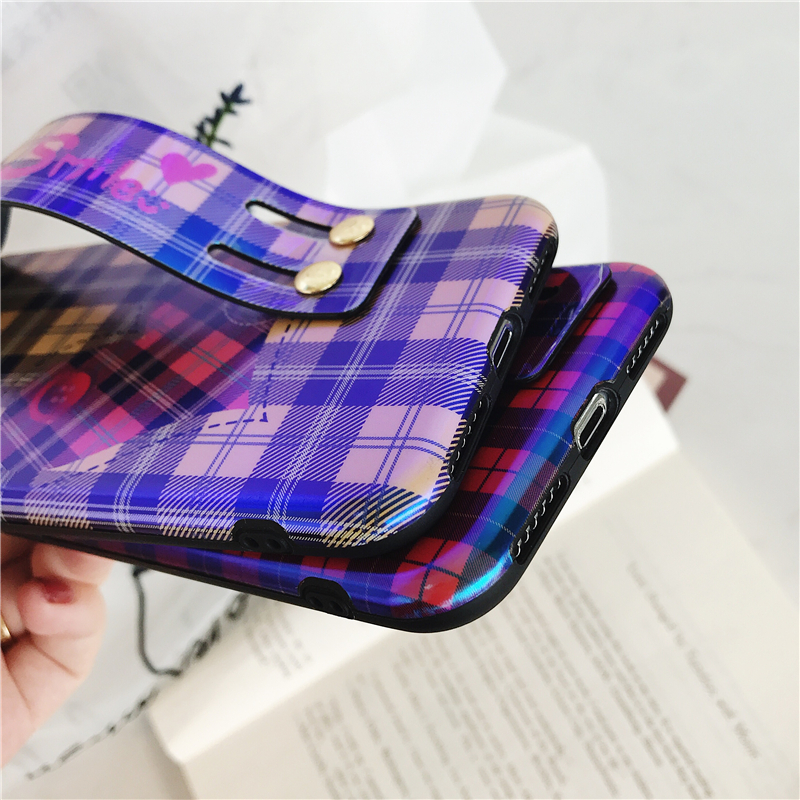 hand strap iPhone case wristband blue ray light cover (11)