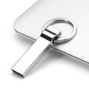 Metal Pen Drive 512GB 1TB TB 2 Chaveiro De Metal USB 2.0 Flash Drive GB 16 8GB 32GB 64GB Thumb Disk Memory Stick/Carro/Chave Drives