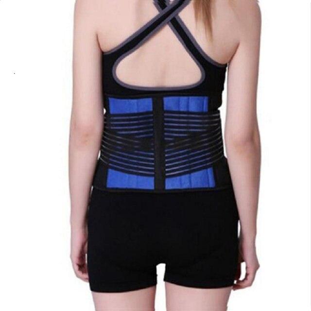 AOFEITE Neoprene Waist Posture Corrector Belt Lumbar Support Back Brace Tummy Trimmer Belt Reduce the Lumbar Pain Free Shipping 1