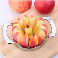 Christmas Gift Cooking Tools Stainless Steel Apple Corers Cut Apples Corer Slicer Easy Cutter Cut Fruit Knife Free Shipping