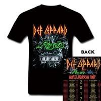UK Heavy Metal Rock Band Def Leppard T Shirt Def Leppard Poison Tesla 2017 Concert Tee