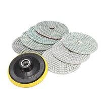 8pcs Mayitr 4 Inch Diamond Polishing Pads Wet Dry Set 50 100 200 400 800 500