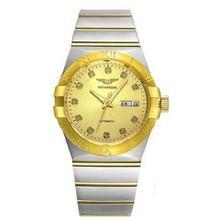 New Luxury Gold-plated Watch Top Brand GuanQin Quartz Watch women Watches Waterproof Sapphire Luminous Fashion Casual full Steel