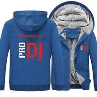 Pioneer Pro DJ Hoodies Jacket Winter Men Casual Wool Liner Fleece Hoodie Hip Hop Pioneer Pro Sweatshirts Hoody Men Hoodies
