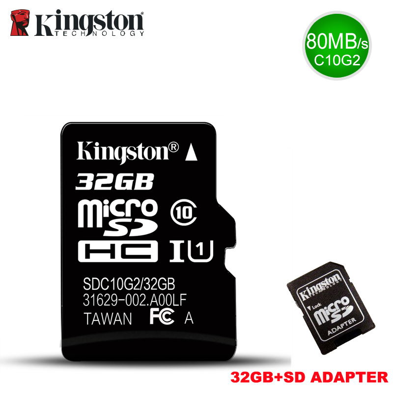 Kingston Micro SD Carte Mémoire 32 gb Class10 carte sd C10 TF Memoria Carte 32 GB microSDHCSDXC UHS-I tarjeta micro Sd Pour Smartphone