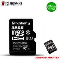 Kingston tarjeta de Memoria micro sd de 32gb Class10 carte Sd C10 TF Memoria tarjeta de 32GB microSDHCSDXC UHS-I tarjeta micro sd para el teléfono inteligente