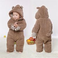 New Baby Romper Baby Thicken Clothes Newborns Keep Warm Overalls Autumn And Winter Clothing Jumpsuit Baby Boys Costume Wholesale