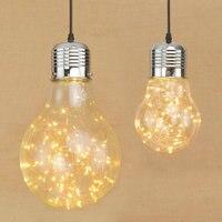 Large Edison Bulb Individual Creative Corridor Restaurant Cafe Decoration Romantic Warm White Glass Hang Lamp Led Pendent Light