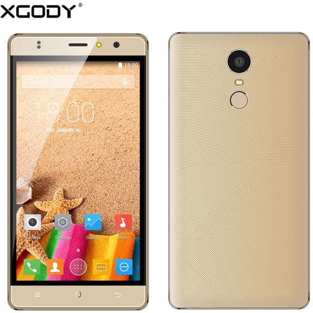 "XGODY M20 3G Smartphone Android 6.0 MTK Quad Core 1GB RAM 8GB ROM 5.5"" 1280*720 IPS Dual Sim Fingerprint Scanner Mobile Phone"