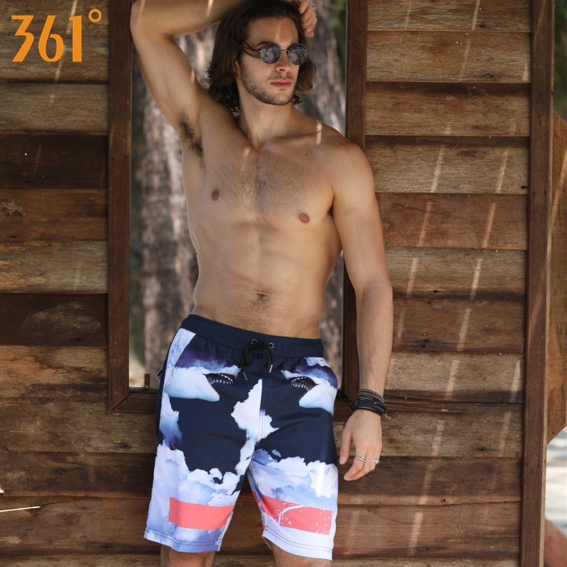 361 Men Surfing Pants Quick Dry Beach shorts for Men 2018 Sports Mens Swim Shorts Boxer Swimming suit Board Shorts Male Swimsuit
