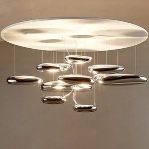 Image 2 - GZMJ moderne Mobile mercure suspension lumières 110 240V argent suspension lampe ampoule LED maison décorer Hanglamp pour salon suspension lampe