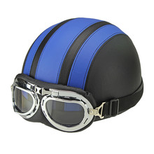 Hot Sales Motorcycle Helmets For Harley Bike Bicycle Open Face Retro Half Moto Helmets With Goggles Leather Scarf Helmet Unisex