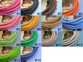 13 CLR Avail. 5 Yds 4.0mm Soft Round Bolo Braided Synthetic Leather Cord