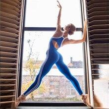 Macacão feminino esportivo 1 peça, conjunto de yoga sexy, para treino, academia, corrida, roupas fitness, feminino