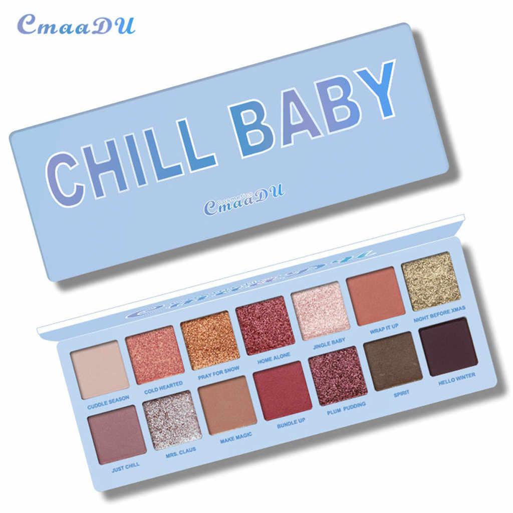 Cmaadu 14 צבע גליטר שמר מט צללית צבעים איפור עמיד למים סמוקי מבריק פיגמנט צלליות אבקה טבעי עירום ערכה