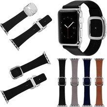 Новая Замена Современные Пряжка Натуральная Кожа Наручные Группы Ремень для Apple Watch 42 мм/38 мм