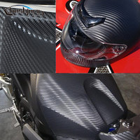 60x152cm 3D Carbon Fiber Vinyl Car Wrap Sheet Roll Film Car Motorcycle Scooter Decal DIY Sticker