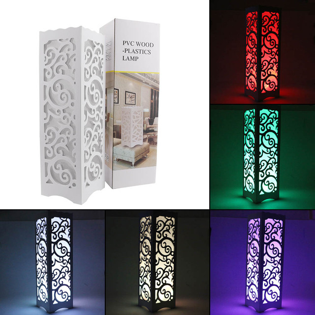 modern led hollow carved night light night lamp remote control lighting desk lamp creative bedside table