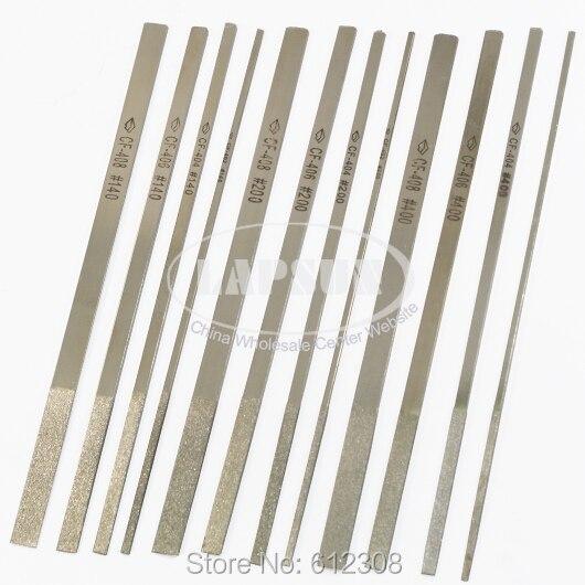 10 Stücke Flache Diamant Beschichtung Nadel Datei Dateien Set 180mm * 50mm Für Jewelers Werkzeug Stahl Stein Glas Metall Freeshipping Mangelware