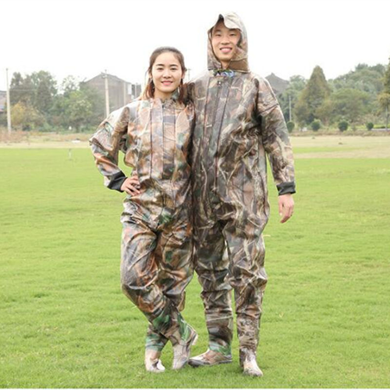 Hohe-Jump Camouflage Miliary Angeln Waders 0,75 MM Volle Körper PVC Wasserdichte Unterwasser Jagd Angeln Waders <font><b>Overalls</b></font> Kleidung image
