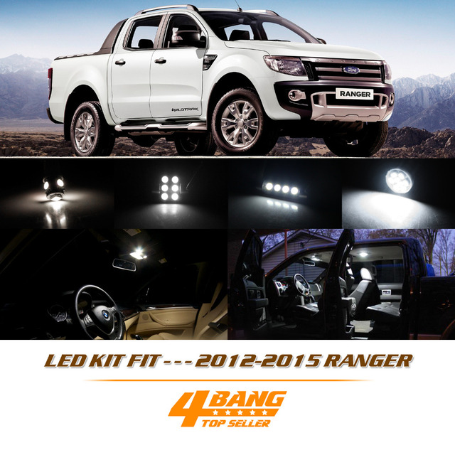 For 2017 Ranger 11 Pcs Dome Lights License Plate Led White Interior Light Package Kit