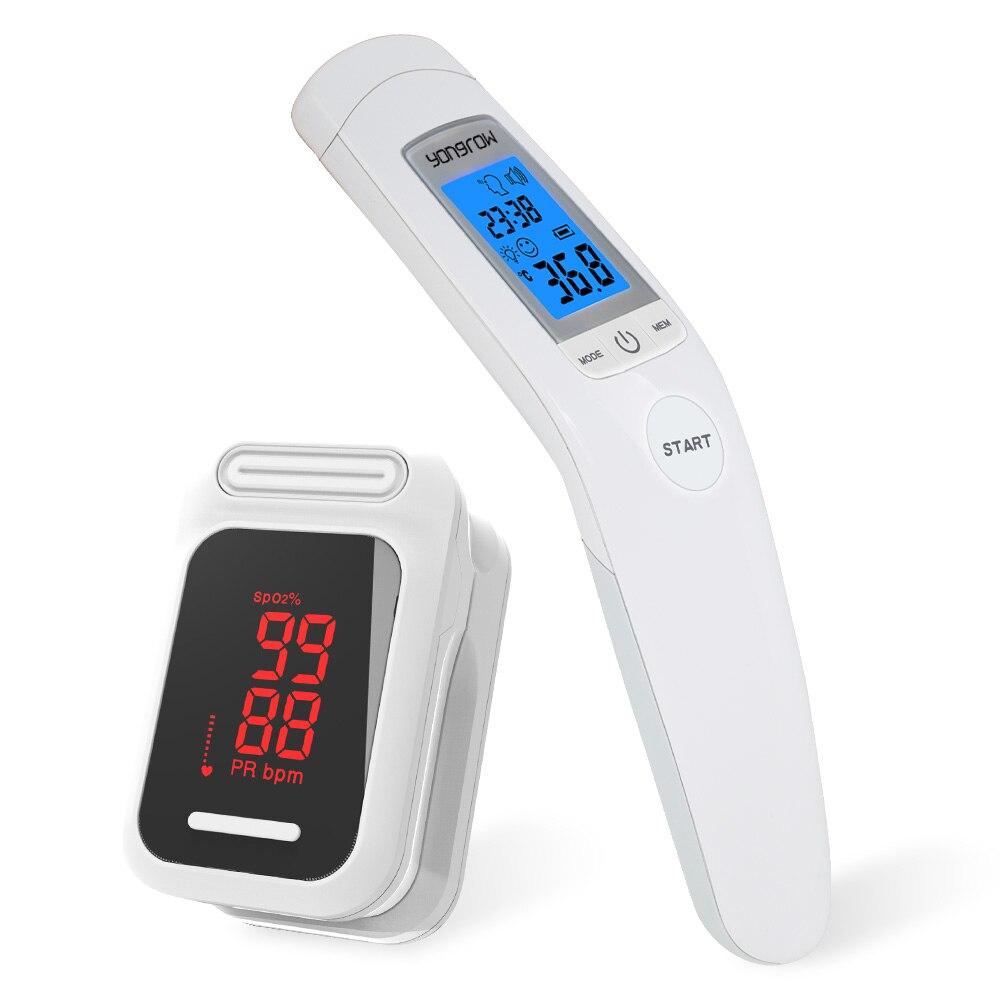 Yongrow Medical health Care Infravermelho Termômetro Do Bebê Adulto SPO2 Pulso Da Ponta Do Dedo oxímetro De Pulso De Dedo Digital de LCD