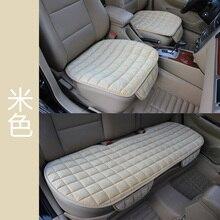 Asiento de coche cojín antideslizante 3-piezas de este conjunto de invierno felpa corta cojín de terciopelo estera cubierta púrpura accesorios interiores envío libre