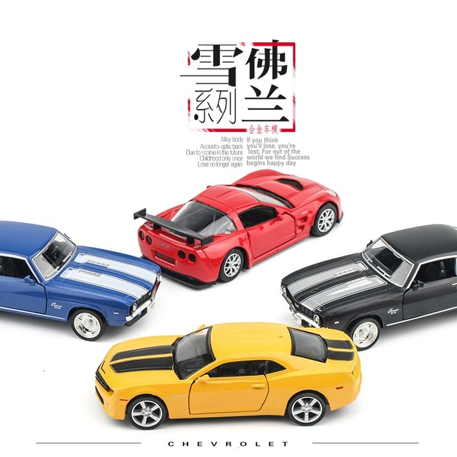 US $11 72 49% OFF 1:36 alloy Sports car model Chevrolet Camaro Open the  door back to power metallic material kids toys-in Diecasts & Toy Vehicles  from