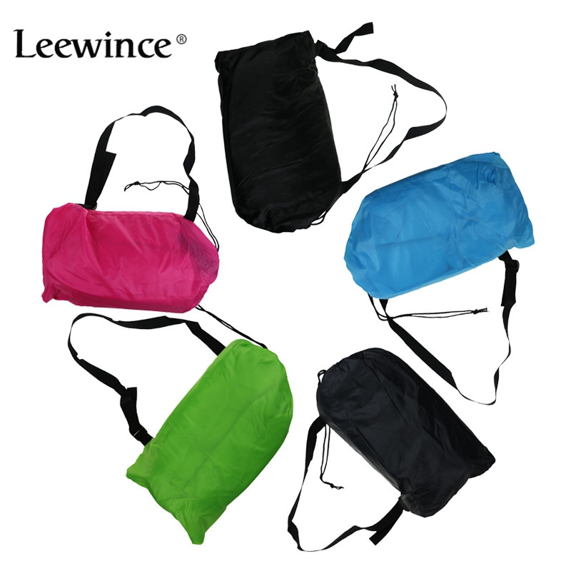 Leewince Lazy bag Fast Inflatable Sofa Outdoor Air Sofa Sleeping bag Couch Portable Furniture Living Room Sofas for Summer