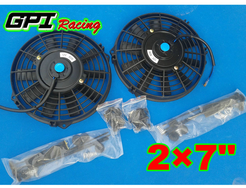 "7/"" inch Universal Electric Radiator RACING COOLING Fan m/&ounting kit"