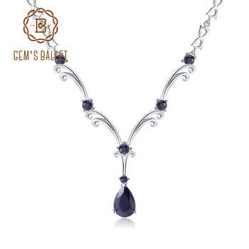 GEM'S BALLET Luxury 5.61Ct Natural Blue Sapphire Gemstone Pendant Necklace for Women 925 Sterling Silver Vintage Fine Jewelry - DISCOUNT ITEM  45% OFF All Category